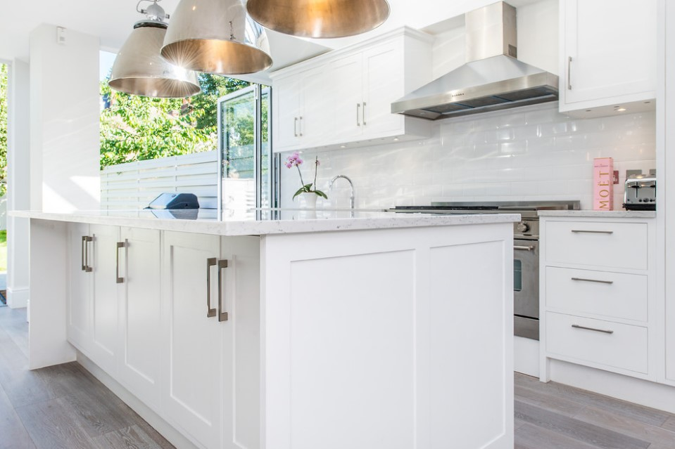 bishops park contemporary white kitchen london
