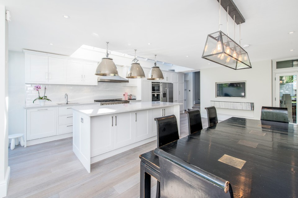 bishops park modern white kitchen london