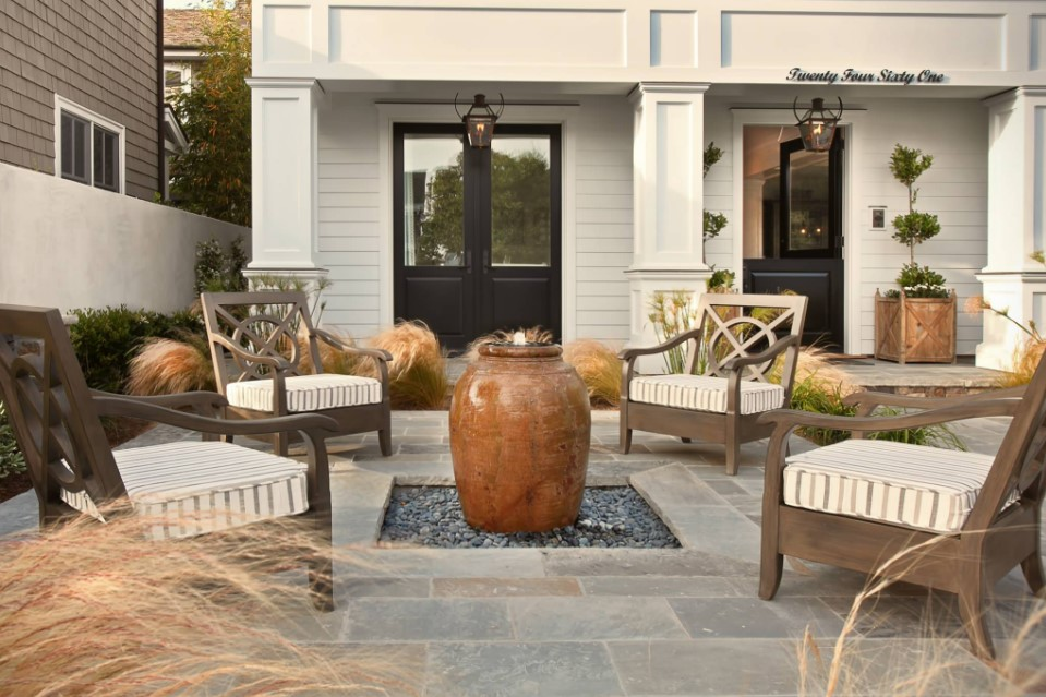 home on bayshores drive - beach style patio orange county