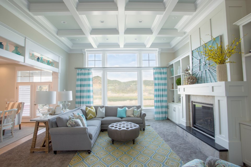 bradshaw residence beach style family room design - salt lake city