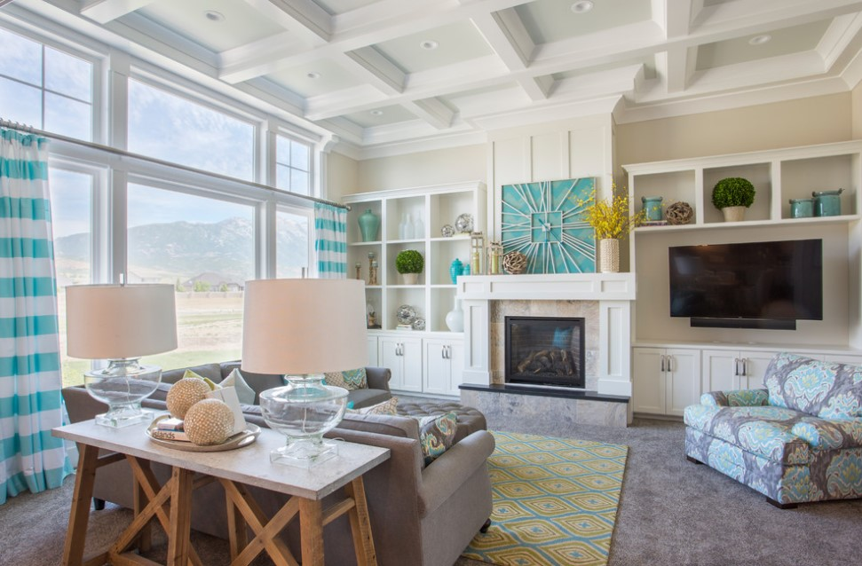 bradshaw residence beach style family room photo - salt lake city