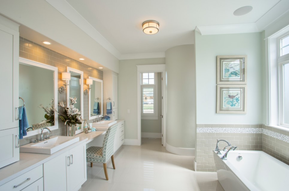 bradshaw residence transitional bathroom design - salt lake city